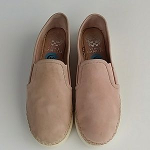 Vince Camuto Tambie Slip On Leather Suede  Shoes